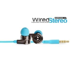 Pisen G105 3.5mm HiFi Flat In-ear Headphone w/ Mic & Remote for Apple iPhone iPod iPad - Blue