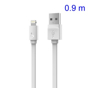 White IHAVE MFi Certified Lightning 8pin 2.4A Charge Sync Flat Cable for iPhone 5s 5 5c iPad Air iPod Touch 5, Support IOS7