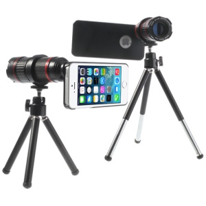 KHAMA 4X-12X Zoom Optical Telescope Telephoto Lens for iPhone 5 5s