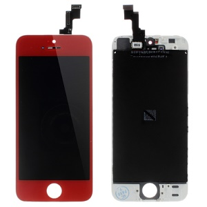 Red LCD Assembly w/ Touch Screen + Digitizer Frame + Front Camera Holder + Sensor IC Holder + Earpiece Mesh for iPhone 5s