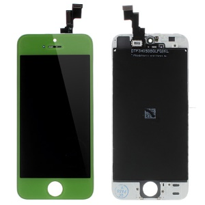 Green LCD Assembly w/ Touch Screen + Digitizer Frame + Front Camera Holder + Sensor IC Holder + Earpiece Mesh for iPhone 5s