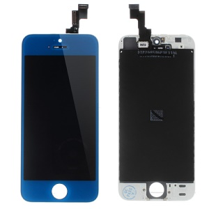 Dark Blue LCD Assembly w/ Touch Screen + Digitizer Frame + Front Camera Holder + Sensor IC Holder + Earpiece Mesh for iPhone 5s