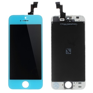 Baby Blue LCD Assembly w/ Touch Screen + Digitizer Frame + Front Camera Holder + Sensor IC Holder + Earpiece Mesh for iPhone 5s