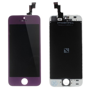 Purple LCD Assembly w/ Touch Screen + Digitizer Frame + Front Camera Holder + Sensor IC Holder + Earpiece Mesh for iPhone 5s