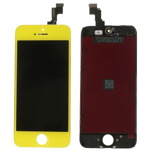 Yellow for iPhone 5s LCD Assembly w/ Touch Screen + Digitizer Frame + Front Camera Holder + Sensor IC Holder + Earpiece Mesh
