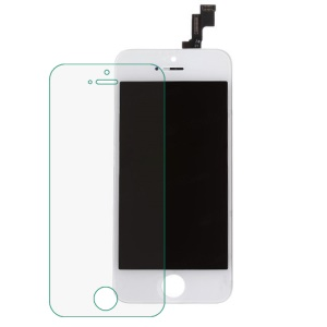 White for iPhone 5s LCD Assembly ( OEM LCD Screen + Camera Holder + Earpiece Mesh + Sensor IC Holder) & (High quality Flex Cable + Touch Screen + Glass Lens + Digitizer Frame)