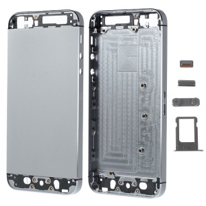 Metal Full Housing Faceplates for iPhone 5s w/ Small Parts - Grey