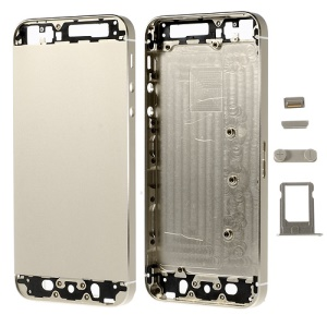 Metal Full Housing Faceplates for iPhone 5s w/ Small Parts - Champagne Gold