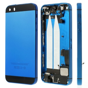 Metal Back Housing Faceplate Assembly for iPhone 5s w/ Other Parts - Black / Dark Blue