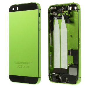 Metal Back Housing Faceplate Assembly for iPhone 5s w/ Other Parts - Black / Green
