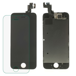 Black for iPhone 5s LCD Assembly (OEM Camera Holder + Front Camera + Earpiece Mesh + Sensor IC Holder & High Quality Glass Lens Etc)