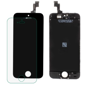 Black For iPhone 5s OEM LCD Assembly + Front Camera Holder + Earpiece Mesh + Sensor IC Holder