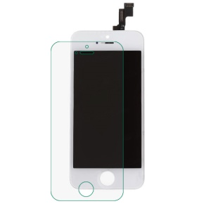 White for iPhone 5s OEM LCD Assembly + Front Camera Holder + Earpiece Mesh + Sensor IC Holder