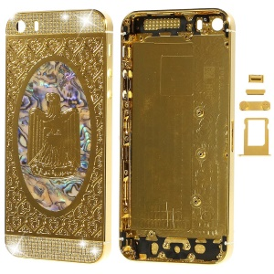 Diamond Metal Rear Housing Faceplates for iPhone 5s w/ Small Parts - Iraq Emblem