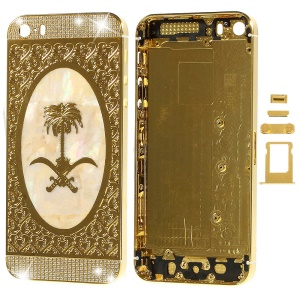 Diamond Metal Rear Housing Faceplates for iPhone 5s w/ Small Parts - Emblem of Saudi Arabia