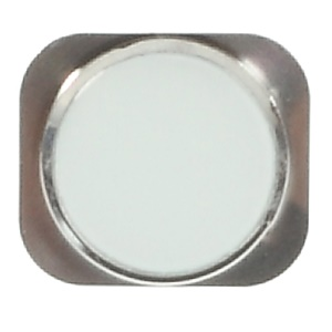 Home Button Repair Part for iPhone 5s - White / Silver