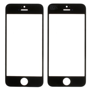 Black for iPhone 5s Front Outer Glass Lens Cover (OEM)