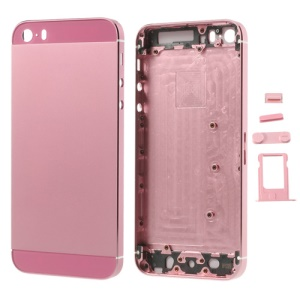 Pink Smooth Metal Full Housing for iPhone 5s w/ Side Buttons SIM Card Tray