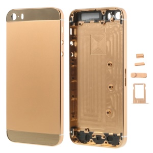 Rose Gold for iPhone 5s Smooth Metal Full Housing w/ Side Buttons SIM Card Tray