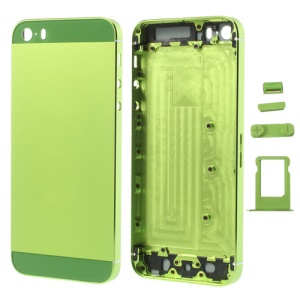 Green Smooth Metal Full Housing for iPhone 5s w/ Side Buttons SIM Card Tray