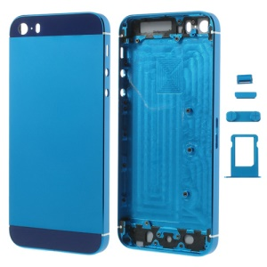 Dark Blue Smooth Metal Full Housing for iPhone 5s w/ Side Buttons SIM Card Tray