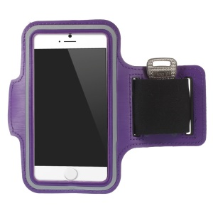Sports Workout Gym Strap Armband Pouch Case for iPhone 6 4.7 inch - Purple