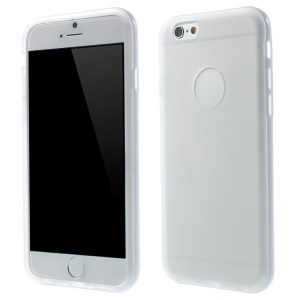 Detachable PC Frame + TPU Hybrid Case for iPhone 6 4.7 inch - White Frame / White