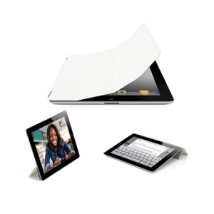 Miraculous Leather Smart Cover for iPad 2 - White