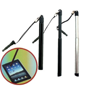 Slim Apple iPad 2 Touch Stylus Pen with Audio Jack Hole Stopper
