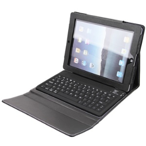 iPad 2 Leather Case with Bluetooth Keyboard