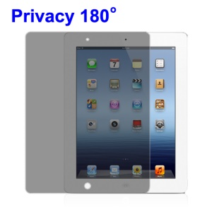 Privacy Screen Protector for iPad 2nd 3rd Generation The New iPad 4G LTE / Wi-Fi (180 Degree)