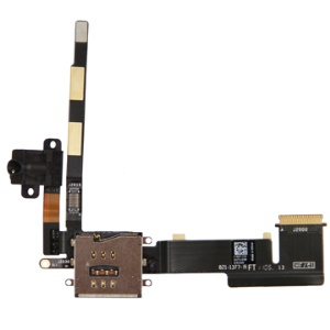 Original Audio Jack Flex Cable with 3G Card Holder Connector for iPad 2 WiFi + 3G