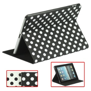 Miraculous Magnetic Wake / Sleep Leather Smart Case for New iPad 3rd 2nd 4th Gen with Polka Dot Pattern