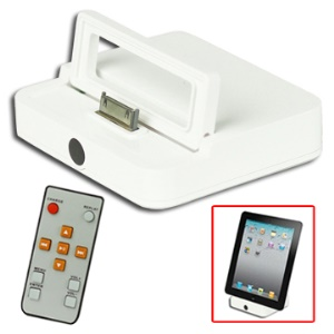 6 in 1 HDMI Dock Station Charger Adapter with Remote Control for iPad 2/ iPhone 4