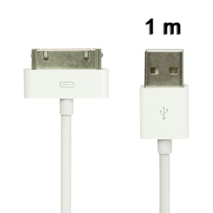 High Quality USB 2.0 Data Sync Cable for iPad / iPad 2 / iPhone / iPod, Length:1M