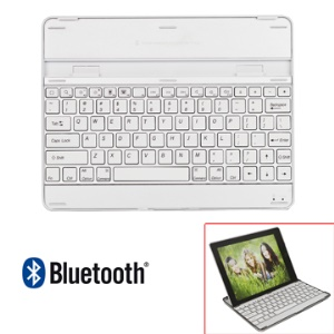 Apple iPad 2 3 4 Wireless Bluetooth Keyboard Case Aluminum - Silver