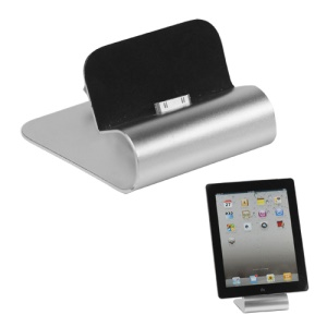 Aluminum The New iPad/iPad 2/iPhone Charging Cradle Dock Station with USB Retractable Cable
