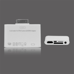 iPad 1 & 2 Camera Connection Kit Adapter+ Micro USB Port SD Card Reader AV HDMI Output