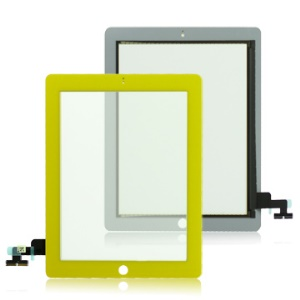 Yellow For iPad 2 Digitizer Touch Screen Replacement (OEM)