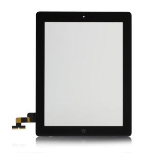 iPad 2 Touch Screen Digitizer Assembly w/ Front Camera Holder + Home Button + Home Button Holder + Adhesive Tape OEM - Black
