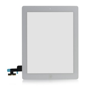 iPad 2 Touch Screen Digitizer Assembly w/ Front Camera Holder + Home Button + Home Button Holder + Adhesive Tape OEM - White