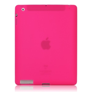 Soft Silicone Cover Case for New iPad 2nd 3rd 4th Generation - Rose