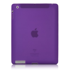 Soft Silicone Cover Case for New iPad 2nd 3rd 4th Generation - Purple