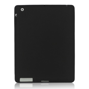 Soft Silicone Cover Case for New iPad 2nd 3rd 4th Generation - Black
