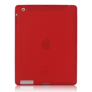 Soft Silicone Cover Case for New iPad 2nd 3rd 4th Generation - Red