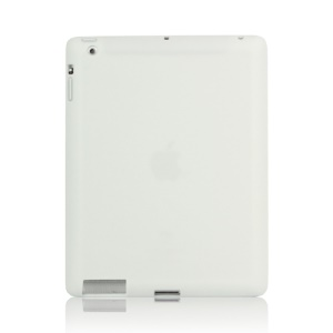 Soft Silicone Cover Case for New iPad 2nd 3rd 4th Generation - White