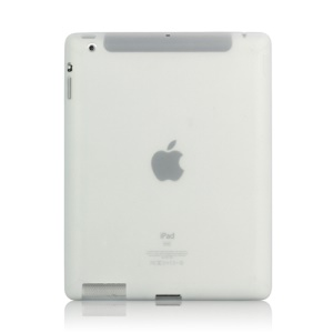 Soft Silicone Cover Case for New iPad 2nd 3rd 4th Generation - Transparent