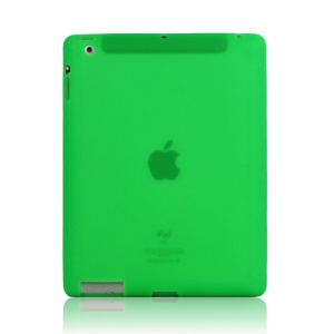 Soft Silicone Cover Case for New iPad 2nd 3rd 4th Generation - Green