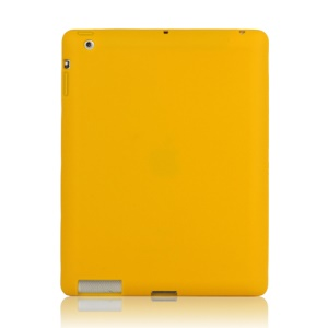 Soft Silicone Cover Case for New iPad 2nd 3rd 4th Generation - Yellow