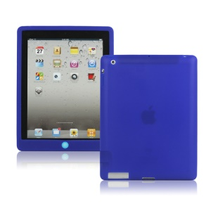 New iPad 2nd 3rd 4th Gen Silicone Case Skin Cover with Home Button - Blue